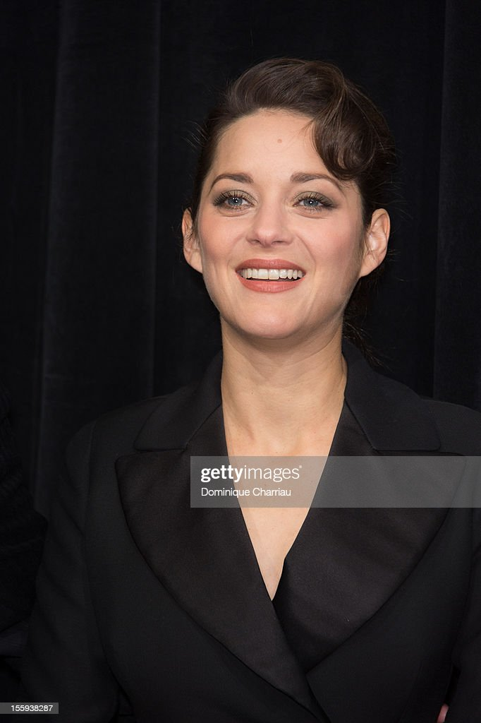 French actress Marion Cotillard launches the Christmas illuminations at Printemps Haussmann on November 9, 2012 in Paris, France.