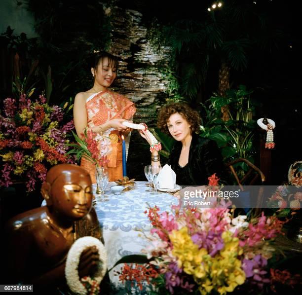 French actress Marlene Jobert dines at the upscale Thai restaurant Elephant Bleu Her first film was director JeanLuc Godard's Masculin Feminin and...