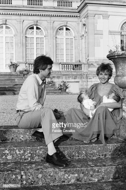 French actress Marlene Jobert her husband Walter Green and their twin daughters Eva Green and Joy Green