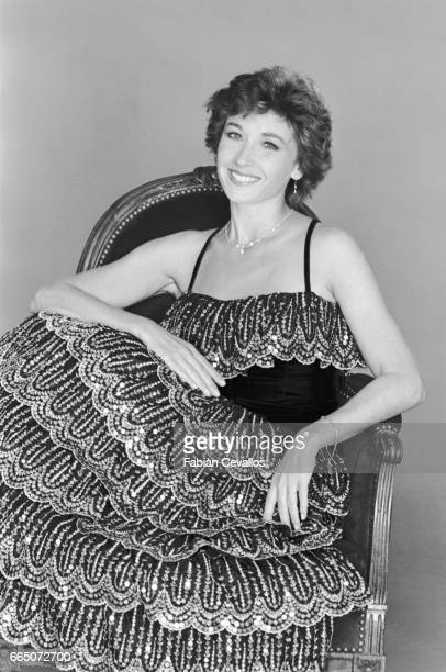 French actress Marlene Jobert with a book