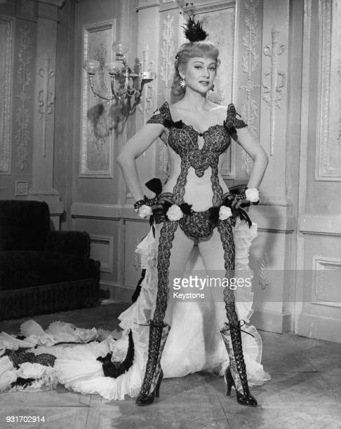 French actress Martine Carol as she appears in the film 'Nana' adapted from the book by Émile Zola 1954
