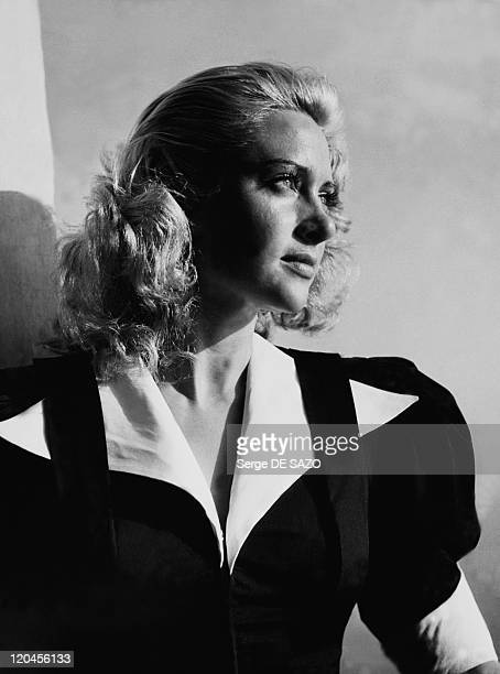 French actress Martine Carol at Cannes film festival in Cannes France in 1950
