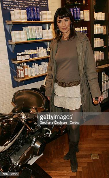 French actress Mathilda May attends the opening store of Kiehl's pharmacy in Paris