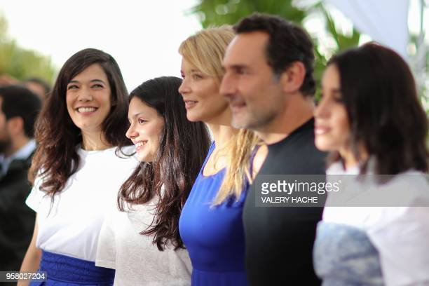 French actress Melanie Doutey French actress Noee Abita Belgian actress Virginie Efira French director Gilles Lellouche and French actress Leila...