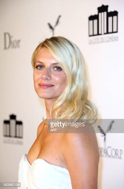 French actress Melanie Laurent poses as she arrives to attend the inauguration ceremony of the Cite du cinema a film studios complex heralded as...