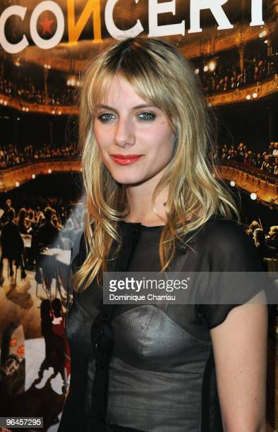 French actress Melanie Laurent poses as she attends 'Le Concert' 2 Millions Viewers Celebration Party at Ritz Club on February 5 2010 in Paris France