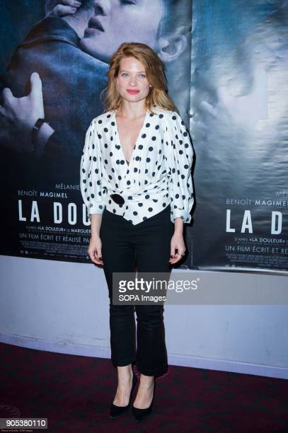 French actress Melanie Thierry at the premiere of 'La Douleur' at the cinema Gaumont Opera in Paris