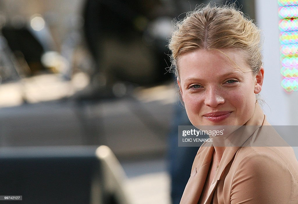 French actress Melanie Thierry attends the Canal+ TV show 'Le Grand Journal' at the 63rd Cannes Film Festival on May 17, 2010 in Cannes.