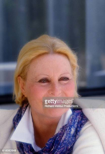 French actress Michele Morgan at Cannes 36th film festival