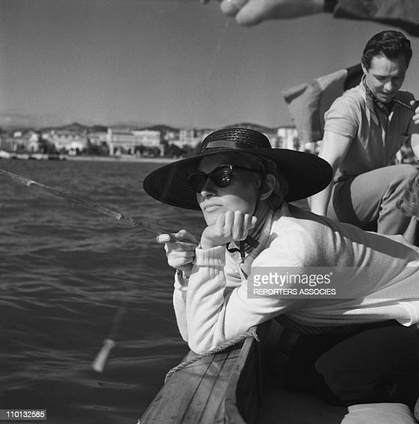 French actress Michele Morgan during the International Film Festival in Cannes Southern France in 1950