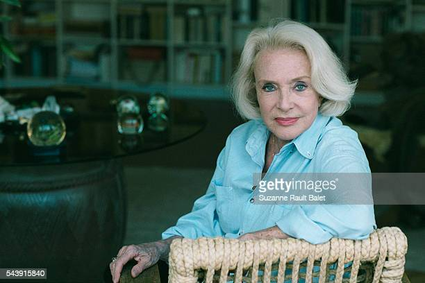 French Actress Micheline Presle at Home