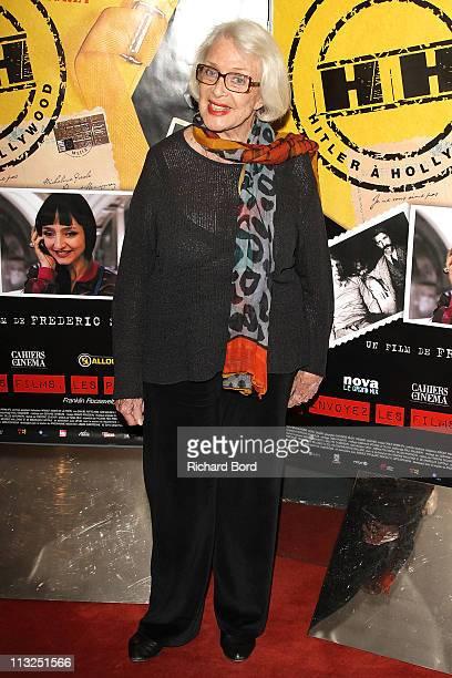 French actress Micheline Presle attends the 'Hitler A Hollywood' Paris Premiere at UGC Cine Cite des Halles on April 28 2011 in Paris France