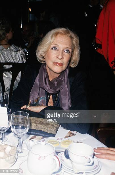 French Actress Micheline Presle In Paris France In June 1991French actress Micheline Presle at a gala evening June 1991