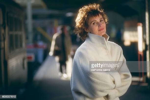 French actress Miou Miou during the filming of the television movie Une Vie Comme Je Veux directed by JeanJacques Goron
