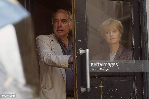 French actress MiouMiou and director Jacques Deray on the set of his film 'Netchaiev est de retour' based on Jorge Semprun's novel by the same title