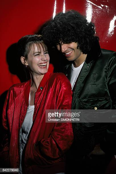 French actress MiouMiou and her partner singer Julien Clerc