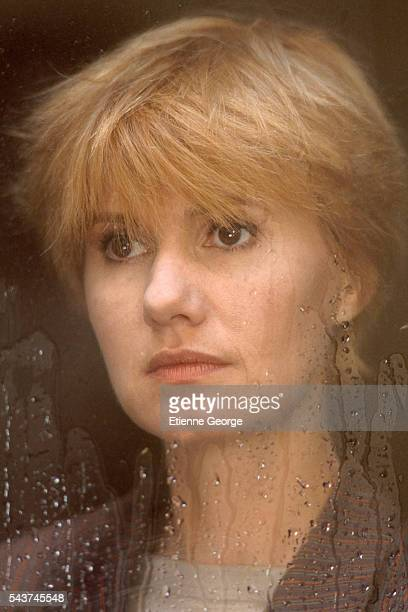 French actress MiouMiou on the set of the film 'Netchaiev est de retour' directed by French director Jacques Deray and based on Jorge Semprun's novel...