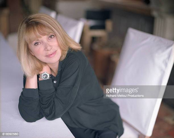 French actress Mireille Darc at home