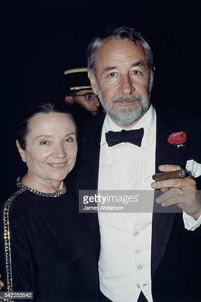 French actress Monique Chaumette with her husband actor Philippe Noiret attend the 42nd Cannes Film Festival