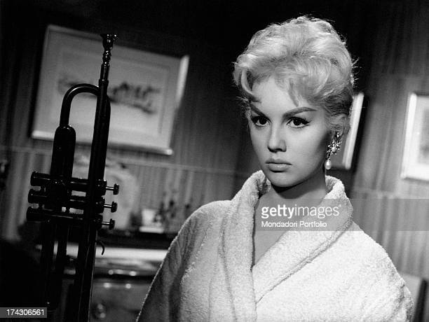 French actress Mylène Demongeot acting in the film Le Vent se Lève 1959