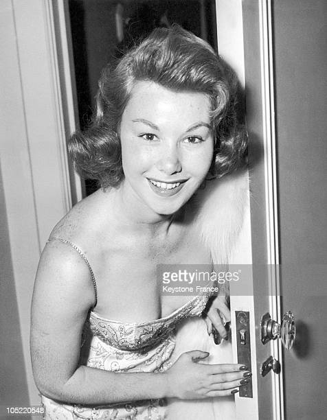 French Actress Nadine Tallier At The Dorchester Hotel In London On October 12, 1956.