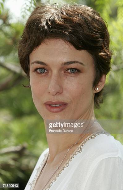 French actress Natacha Lindinger attends the photocall of Le Maitre du Zodiaque during the 46th annual Monte Carlo Television Festival at the Forum...