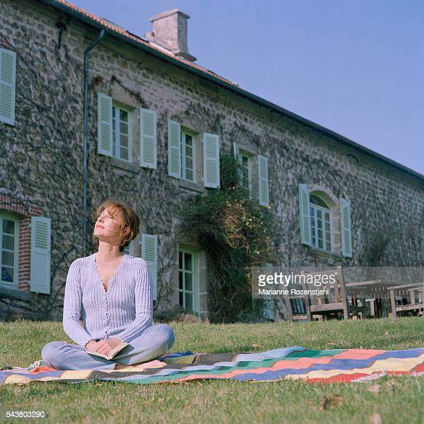 French actress Nathalie Baye at home in the Creuse France