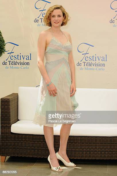 French actress Nathalie Besancon poses at a photocall for the french TV series 'Enquetes reservees' during the 2009 Monte Carlo Television Festival...