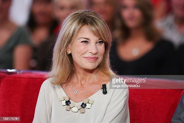 French actress Nicole Calfan attends Vivement Dimanche Tv show on September 5 2012 in Paris France