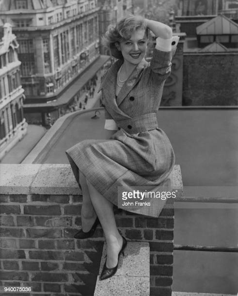 French actress Nicole Courcel on the roof terrace of the Marquee in Oxford Street London 11th May 1959 She is in the capital to attend the British...