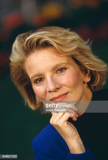 French actress Nicole Garcia attends the 1986 American Film Festival at Deauville