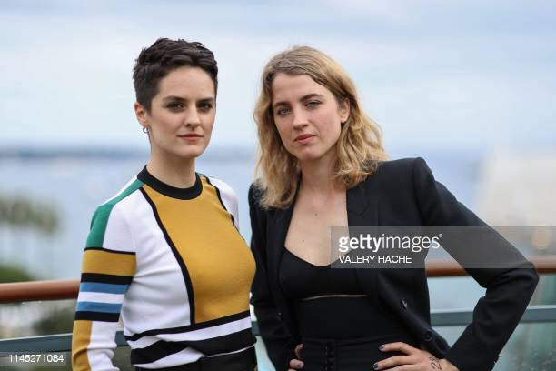 French actress Noemie Merlant and French actress Adele Haenel pose during a photo session on the sidelines at the 72nd edition of the Cannes Film...