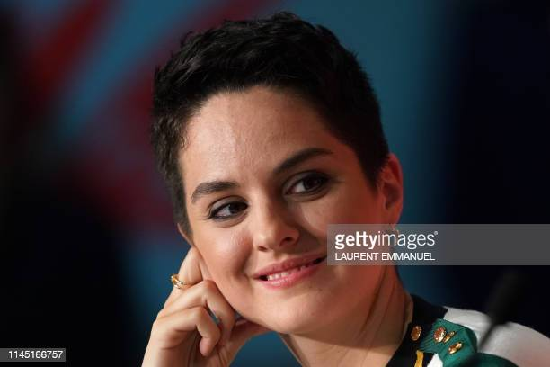 French actress Noemie Merlant attends a press conference for the film Portrait Of A Lady On Fire at the 72nd edition of the Cannes Film Festival in...