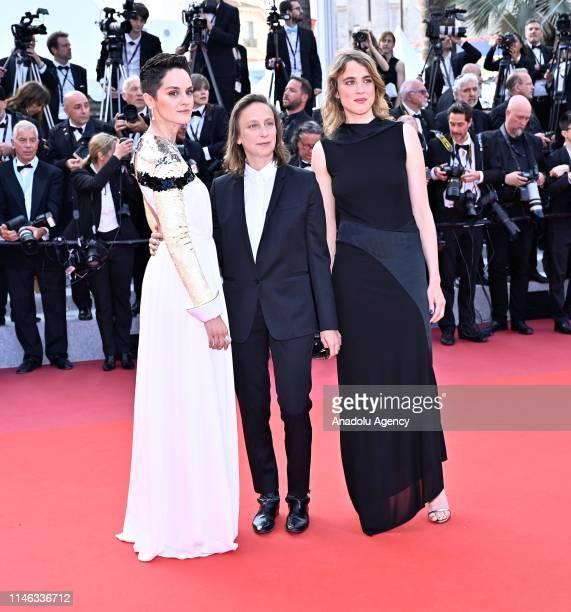 French actress Noemie Merlant French director Celine Sciamma and French actress Adele Haenel arrive for the Closing Awards Ceremony of the 72nd...
