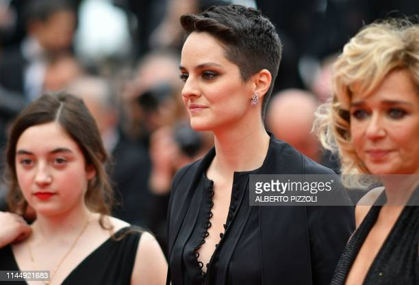 French actress Noemie Merlant leaves the Festival Palace after the screening of the film Portrait Of A Lady On Fire at the 72nd edition of the Cannes...