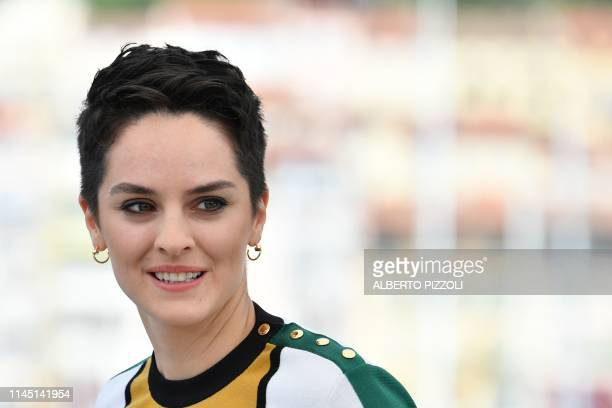 French actress Noemie Merlant poses during a photocall for the film Portrait Of A Lady On Fire at the 72nd edition of the Cannes Film Festival in...