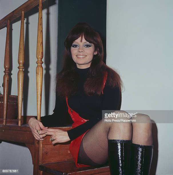 French actress Pascale Petit posed sitting on a staircase in Rome Italy on 10th March 1970