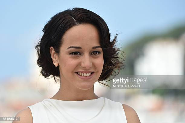 """French actress Pauline Caupenne poses on May 17, 2016 during a photocall for the film """"Fool Moon """" at the 69th Cannes Film Festival in Cannes,..."""