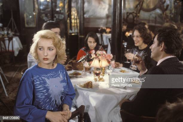 French actress Pauline Lafont on the set of the movie Le pactole