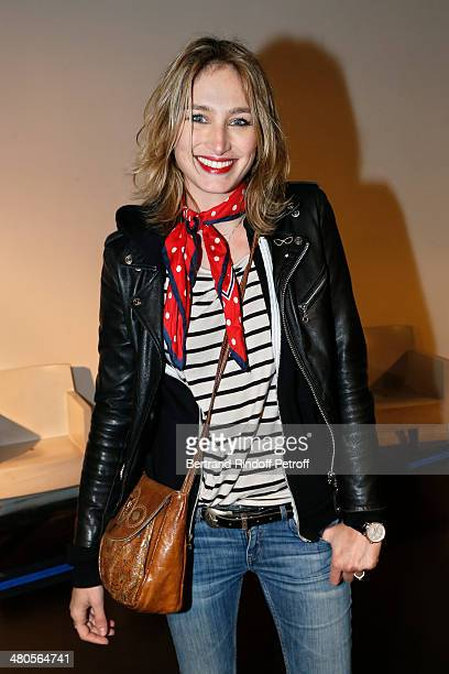French actress Pauline Lefevre attends the private screening of French director Claude Lelouch's latest film 'Salaud On t'aime' in which she stars at...