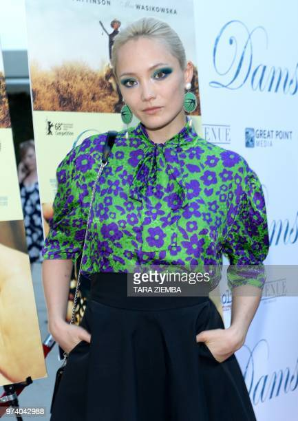 French actress Pom Klementieff arrives at the Magnolia Pictures' 'Damsel' premiere at ArcLight Hollywood in Hollywood California on June 13 2018