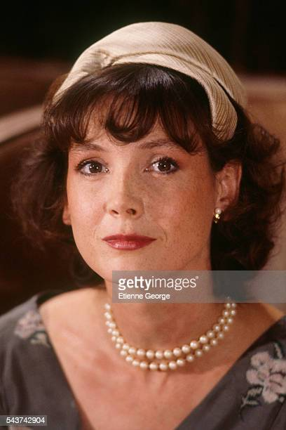 """French actress Sabine Azema as an extra on the set of """"Round Midnight"""" , based on the David Rayfiel screenplay, directed by Bertrand Tavernier."""