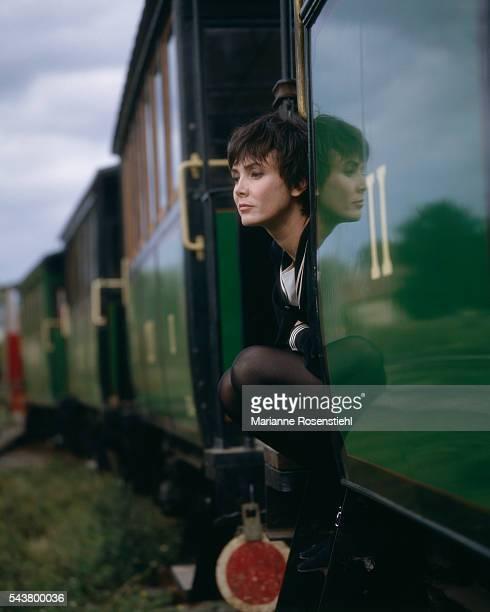French actress Sabine Azema.