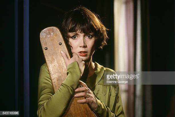 French actress Sabine Azéma on the set of Melo, directed by Alain Resnais based on the Henri Bernstein play. Sabine Azéma won the 1987 Cesar award...