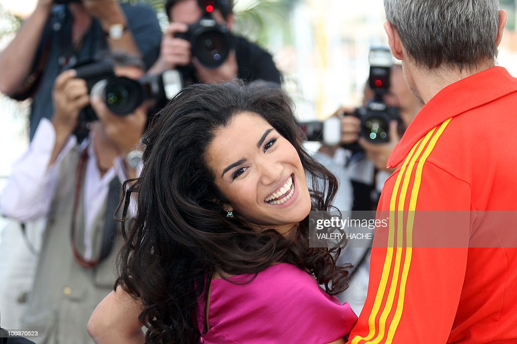 French actress Sabrina Ouazani pose during the photocall of 'Des Hommes et des Dieux' (Of God and Men) presented in competition at the 63rd Cannes Film Festival on May 18, 2010 in Cannes.