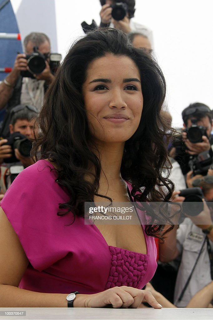 French actress Sabrina Ouazani poses during the photocall of 'Des Hommes et des Dieux' (Of God and Men) presented in competition at the 63rd Cannes Film Festival on May 18, 2010 in Cannes.