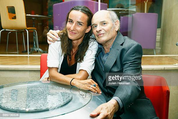 French actress Salome Stevenin and her father French actor Jean François Stevenin attend Jeunesse Paris Premiere at Cinema l'Arlequin on September 6...
