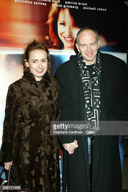French actress Sandrine Bonnaire and her husband attend the premiere of 'Une Vie à T'Attendre'