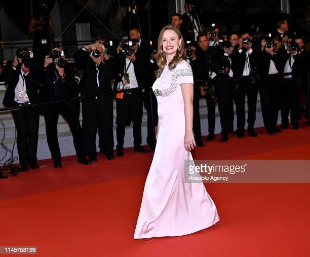French actress Sara Forestier arrives for the screening of the film 'Mektoub My Love Intermezzo' at the 72nd annual Cannes Film Festival in Cannes...