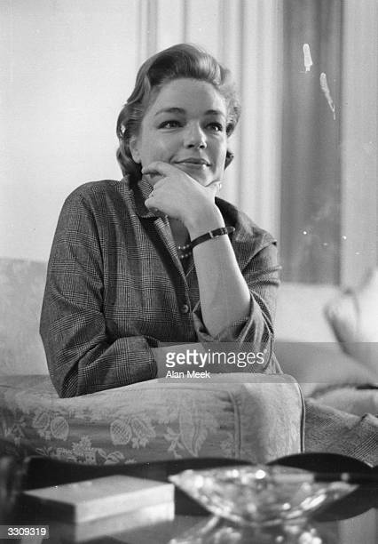 French actress Simone Signoret famous for her role in 'Room at the Top'